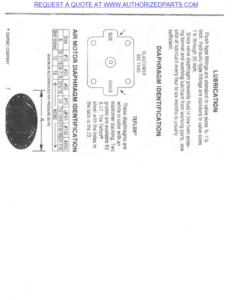 ITT Air Motor Diaphragm Identification