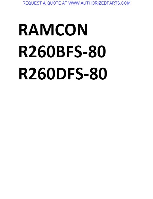 Ramcon 8BR + 25BR Parts List