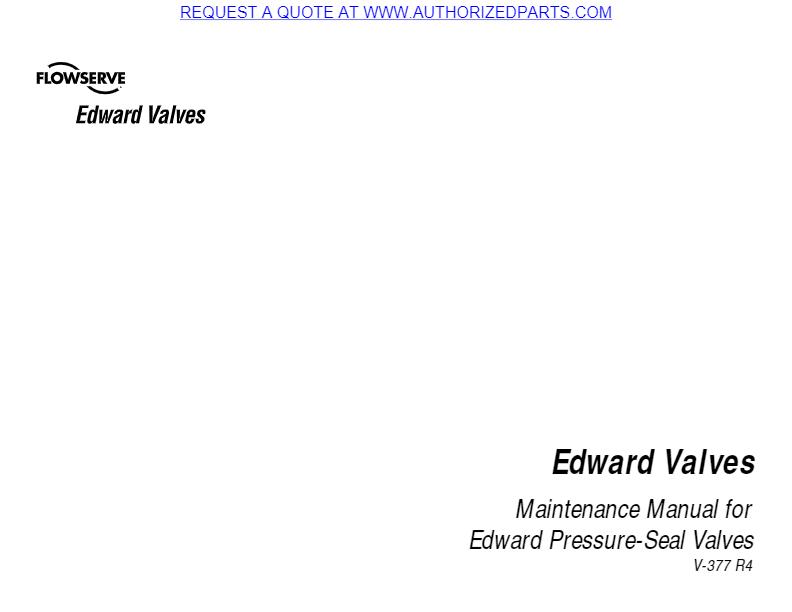 Rockwell Edward Pressure Seal Maint