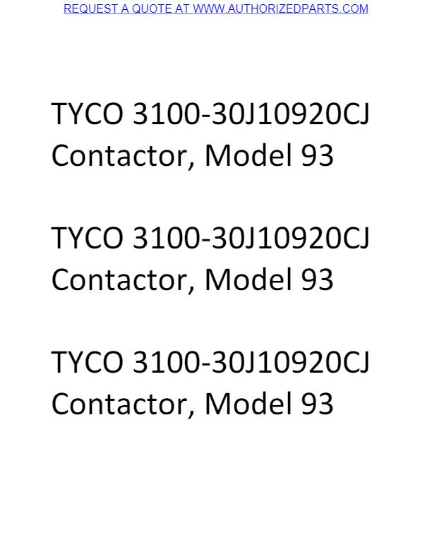 TYCO 3100