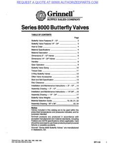 Grinnell Butterfly Valves Original pdf image