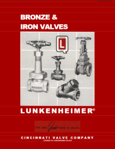 Lunkenheimer Bronze and Iron Valves pdf image